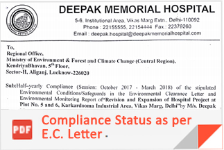 Deepak Memorial Hospital in New Delhi